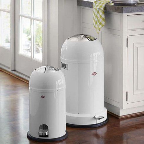 Wesco Kickmaster 33 Liter Aanbieding.Prullenbak Kickmaster Cool Grey Soft Close 33 Liter Wesco
